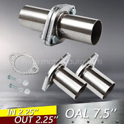 Pair 2.25 Od Universal Quickfix Exhaust Triangle Flange Repair Pipe Kit 2 Bolts