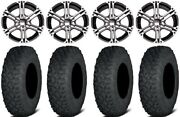 Itp Ss212 15 Wheels Machined 35 Coyote Tires Arctic Cat Tbx Trv Mudpro