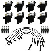 Ignition Wires 8 Coils 8 Spark Plugs 0.040 Kit Acdelco For Buick Chevy Gmc V8