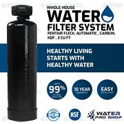 Pentair Fleck Whole House Water Filter System, Automatic , Carbon, Kdf , 3 Cu Ft