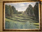 Darren Connors Framed Oil Painting Canvas Dunnegrass Golf Course Oob Maine
