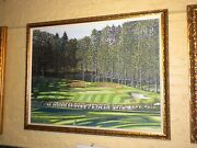 Darren Connors Framed Oil Painting Canvas Belgrade Lakes Golf Course Maine