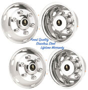 17.5 Imported Truck 6 Lug Stainless Wheel Simulator Rim Liner Hubcap Covers Andcopy