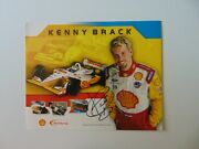 Indianapolis 500 Kenny Bräck Hand Signed 10x8 Card Stock Bio Todd Mueller