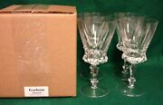 Gorham Pristine Water Goblet Set Of Four Mint In Box More Items Available