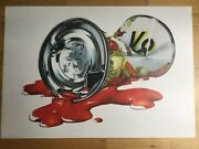 Michael English V8 Juice Can Print 70s Hapshash Eames Pop Art Psychedelic Poster