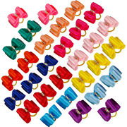 20/50/100pcs Puppy Dog Hair Bows With Rubber Bands Pet Grooming Rhinestone Clips