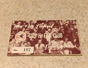 1950 New York Yankees Gus H Fan Club Ticket Booklet All 20 Tickets Unripped