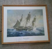 043 Geoff Hunt Limited Edition 692/700 Blue At The Mizzen Framed Signed Print