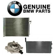 Custom Kit For Bmw Center Front Radiator Vacuum Pump And A/c Condensers Genuine