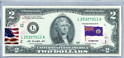 Collectible Us Currency Uncirculated 2 Dollar Bill Stamps Flag Pitcairn Islands