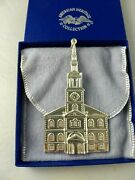 1992 American Heritage Meeting House Sterling Silver Christmas Ornament New