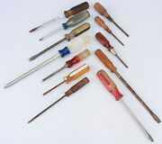Mixed Lot Old Vintage Tools Craftsman Others Screwdrivers Screw Driver Vy