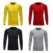 Spring Menand039s Long Sleeve Performance Moisture Wicking T-shirt Soft Underwear