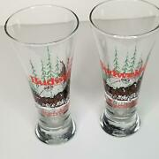 Budweiser The King Of Beers Clydesdale Logo Mugs Glassware Set Of 2