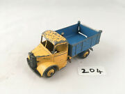 Nice Dinky Toys 410 Bedford Tipper Truck Lorry Diecast Model Yellow/blue 1954