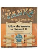 Vintage New York Yankees Pabst Blue Ribbon Large Format Advertisement Pieces 3