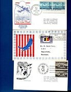 Vintage Envelopes 1940's First Day Of Issue Air Mail 8 Envelopes - Mint