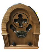 Classic Collectors Edition Am/fm Radio Model 9720 1998 Old Timey Wood Look