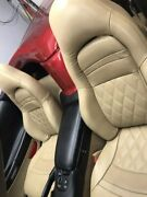 1997-2004 C5 Corvette Light Oak Leather Replacement Seat Covers And Diamond Stitch