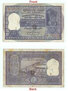 Old Indian 100 Rupees Indian Banknote Hirakud Dam Antique Collectible G5-27
