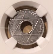 1907 British West Africa 1/10 Penny Ngc Unc Details Cleaned - Aluminum