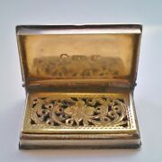 Antique Georgian Silver Book Vinaigrette C1836 - Bound Book By Taylor And Perry