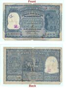 100 Rupee Indian Banknote 1953 Old 100 Inr Elephant Note Bombay Mint G5-30