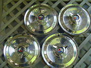 1963 1964 Ford Galaxie 500 Xl 427 15 In Spinner 4 Hubcaps Wheel Covers Vintage