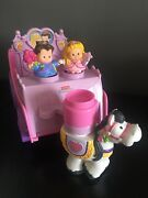Fisher Price Little People Royal Carriage Horse + And Princess Figures 2007