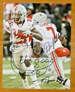 Rare Dwayne Haskins Parris Campbell Signed 11x14 Dynamic Duo W/ Hand Drawn Play