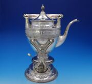 Cellini By Barbour Silver Co Sterling Silver Kettle On Stand 2100 3679