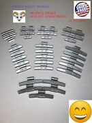 🔩40 Pcs Fn Style Wheel Weight Assortment 0.25 - 2.00 Ounce Gmc Ford Chevy🌀