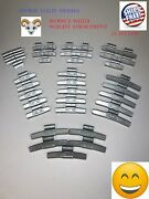 40 Pcs Fn Style Wheel Weight Assortment 0.25 - 2.00 Ounce Gmc Ford Chevy🔩🌀