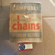 Vintage Campbell Tire Snow Mud Chains 1210 Fits Certain 13 And 14 And 15andrdquo Sizes