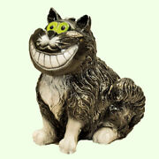 Piggy Bank Alice In Wonderland Smiling Statue Cheshire Cat Large Coins Figurine