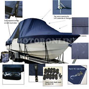 Polar 2100 Bay Center Console T-top Hard-top Fishing Storage Boat Cover Navy