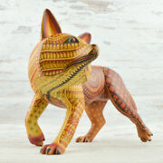 Coyote 103 Alebrije Masterpiece Oaxacan Wood Carving A1891   Magia Mexica