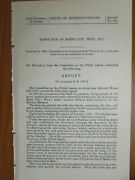 Government Report 2/25/1902 Basin City Wyoming Town Site Property Land