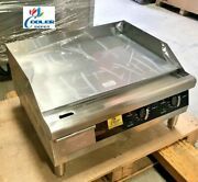 New 24 Electric Griddle Flat Grill Stove Countertop Nsf Etl 208/240v Commercial