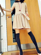Meaveor Design Tshirt Prom Party Dress A Line Smock Cross Ties Casual White S