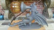 Lg Vintage Gothic Harry Potter/got Winged Dragon Sculpture Figural Wall Sconce