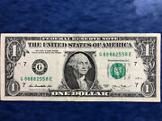 Trinary Solid First Quad 8888 Five 8's In Lucky 1 Dollar Bill Serial Number