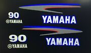 Yamaha Outboard Motor Decal Kit 90 Hp Sticker Custom Blue Outlined 40 - 80 Ask