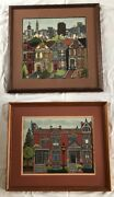 Peter Ashe Alamo Square And Gas Light Finished Completed Set Of 2 San Francisco