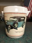 Vintage Walkers Deluxe Collection Of Classic Straight Eights Ice Bucket