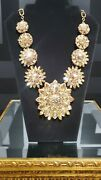 Gold Versace Blooming Medusa Crystal Necklace As Seen On Donatella @and03919 Met Gala