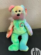 Rare Ty Beanie Baby Peace Bear Original Collectible Retired Po15 5tx