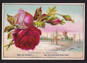 C.1895 Roses Pattison And Kryder Book Seller Illinois Victorian Trade Card
