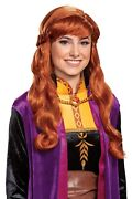Disney Frozen Ii Anna Wig With Braid Adult Womenand039s Licensed Costume Accessory